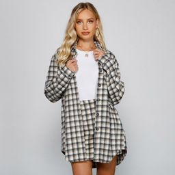 Preppy And Cute Long Plaid Shacket | Windsor Stores