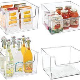 mDesign Plastic Open Front Food Storage Bin for Kitchen Cabinet, Pantry, Shelf, Fridge/Freezer - ... | Amazon (US)