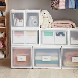 like-it Modular Short Narrow Drawer White | The Container Store