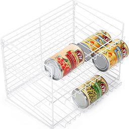 Smart Design 3-Tier Can Rack Organizer - Adjustable - Steel Metal Wire - Pantry, Spice, Cabinet, ... | Amazon (US)