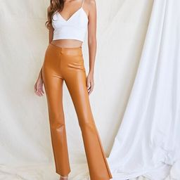 Faux Leather Flare Pants   Forever 21 (US)