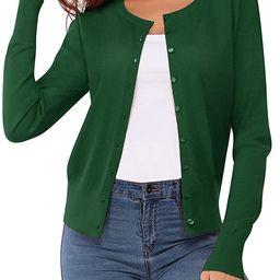 Newshows Suéter clásico de punto de manga larga con cuello redondo para mujer   Amazon (US)