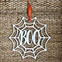 Boo Halloween Door Hanger - Spiderweb Halloween Door Sign - Fun Halloween Door Sign Boo - Wood Hallo | Amazon (US)