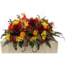 Autumn Mix Cemetery Saddle - Fall Flowers Decoration -Cemetery Saddle | Etsy (US)