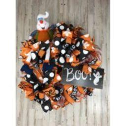 Deco Mesh Halloween Boo Wreath, Front Door Beautiful Decor, Decor | Etsy (US)