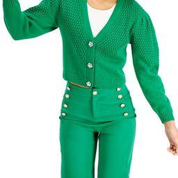 Charter Club Petite Puff-Sleeve Textured Cardigan, Created for Macy's & Reviews - Sweaters - Peti...   Macys (US)