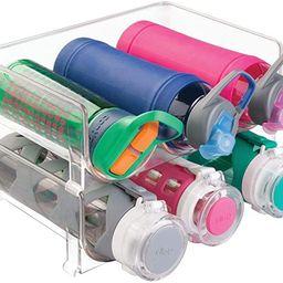 mDesign Plastic Stackable Water Bottle Holder Bin, Storage Organizer for Kitchen Countertops, Cab... | Amazon (US)