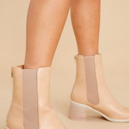 Fierce Step Nude Ankle Booties | Red Dress
