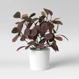 "8.5"" x 7.5"" Artificial Purple/Brown Leaf Plant Arrangement in Pot - Threshold™ | Target"