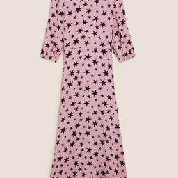 Star Print Round Neck Midaxi Tea Dress | Marks & Spencer (UK)