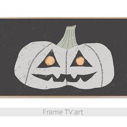 Read the full title     Samsung Frame TV art Halloween, Frame TV art spooky pumpkin, Frame TV art... | Etsy (US)