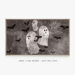 Read the full title     Samsung Frame TV Art Halloween, Ghost Halloween Art Frame TV, Black Bats,... | Etsy (US)