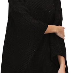 BerryGo Women's Chic Turtleneck Batwing Sleeve Asymmetric Knitted Poncho Pullovers Sweater   Amazon (US)