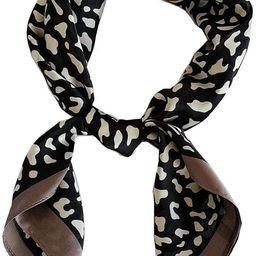FONYVE Silk Feeling Scarf Medium Square Satin Head Scarf for Women 27.5 × 27.5 inches   Amazon (US)
