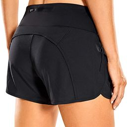 CRZ YOGA Women's Quick-Dry Athletic Sports Running Workout Shorts with Zip Pocket - 4 Inches   Amazon (US)