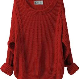 LINY XIN Women's Cashmere Oversized Loose Knitted Crew Neck Long Sleeve Winter Warm Wool Pullover...   Amazon (US)