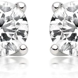 1/4ct tw Diamond Stud Earring in 14k White Gold (I-J-K/I2-I3)   Amazon (US)