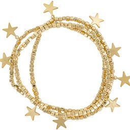 And Lovely 14K Gold or Silver Plated Bead Stretch Bracelet with 14K Gold Plated Star Charm - Stac...   Amazon (US)