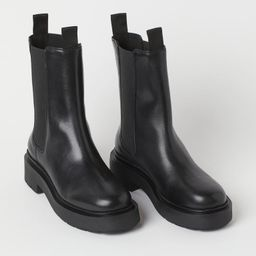 Chunky leather boots | H&M (UK, IE, MY, IN, SG, PH, TW, HK, KR)