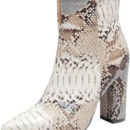Boots for Women Fashion Chunky High Heels Side Zipper Snake Pointed Toe Ankle Booties Cowboy Ankl...   Amazon (US)