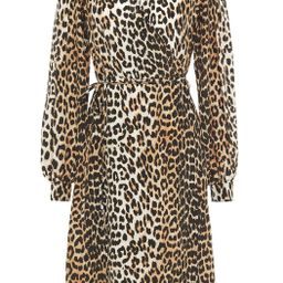 Leopard-print crepe de chine wrap dress   The Outnet (UK and Europe)