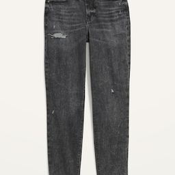 High-Waisted O.G. Straight Ripped Black Ankle Jeans for Women | Old Navy (US)