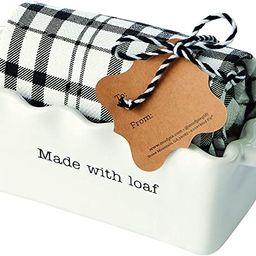 "Mud Pie Made Circa Mini LOAF W Towel, Baker 2 1/2"" x 7"" x 3"" 26"" x 18"" | Amazon (US)"