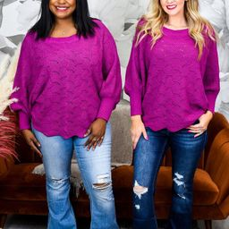 Smooth Criminal Magenta Solid Knitted Top - T1507MG   Tee for the Soul