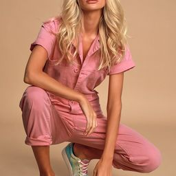 Grover Washed Pink Utility Jumpsuit | Lulus (US)
