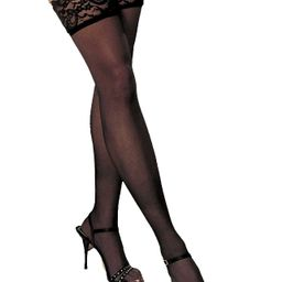 Lacy Line Sheer Lace Top Thigh High Stockings | Walmart (US)