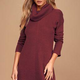 Tea Reader Burgundy Sweater Dress   Lulus (US)
