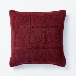Knit Tree Square Throw Pillow - Threshold™ designed with Studio McGee | Target