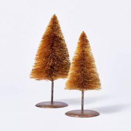 Set of 2 Natural Bottlebrush Trees - Threshold™ designed with Studio McGee | Target