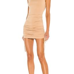 Cory Ruched Side Dress in Nude   Revolve Clothing (Global)