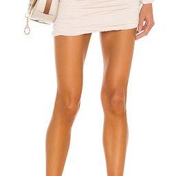 Cori Solid Gathered Seamless Mini Skirt in Opal | Revolve Clothing (Global)