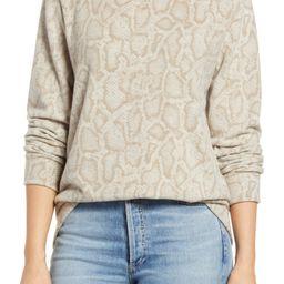 Snake Print Crewneck Sweater | Nordstrom | Nordstrom