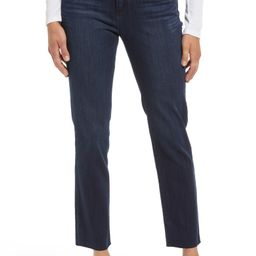 Ab-solution Raw Hem Slim Straight Jeans | Nordstrom | Nordstrom
