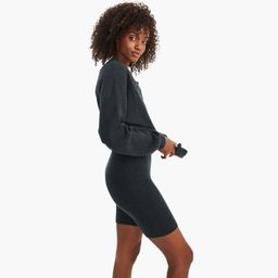 Recycled Cashmere Ribbed Biker Short   NAADAM