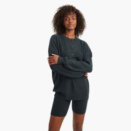 Recycled Cashmere Ribbed Henley   NAADAM
