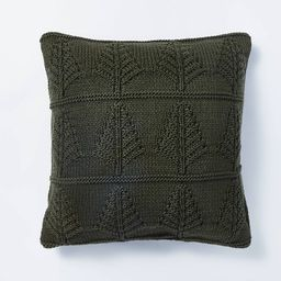 Knit Tree Square Throw Pillow - Threshold™ designed with Studio McGee   Target