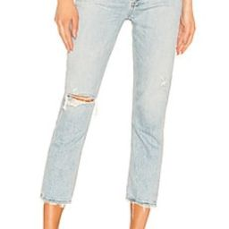 AGOLDE Riley High Rise Straight Crop in Shatter from Revolve.com | Revolve Clothing (Global)