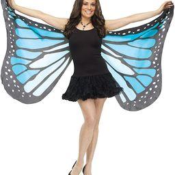Fun World Women's Blue Fabric Butterfly Wings, Standard | Amazon (US)