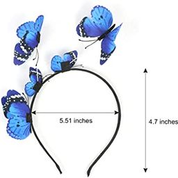 JIAHANG Butterfly Fascinator Hat Festival Costume Photography Headband Crown Kentucky Derby Weddi... | Amazon (US)