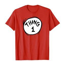 Dr. Seuss Thing 1 Emblem RED T-shirt T-Shirt | Amazon (US)