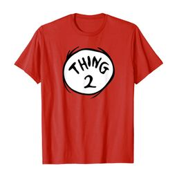 Dr. Seuss Thing 2 Emblem RED T-shirt T-Shirt | Amazon (US)