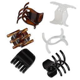 Scunci Claw Clips, Adjust to Most Hair Types, in Black, Tortoise Shell, and Clear, 6ct - Walmart.... | Walmart (US)
