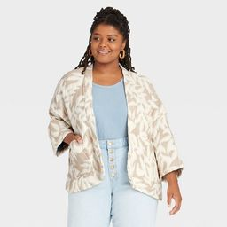 Women's Quilted Short Duster - Universal Thread™ Cream | Target