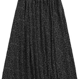 Floerns Women's Boho Elastic Waist Scarf Print Pleated Midi Skirt | Amazon (US)