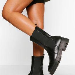 Calf High Chunky Sole Chelsea Boot | Boohoo.com (US & CA)
