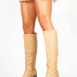 Block Heel Knee High Boots | Boohoo.com (US & CA)